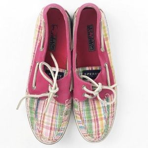 Sperry Top Sider Loafers Shoes Size 9 Plaid